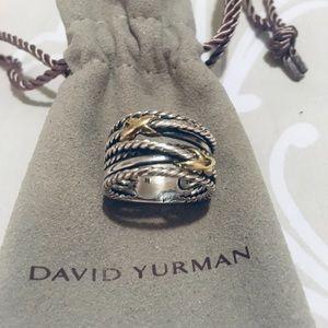 David Yurman Double Crossover Silver & 18K 6